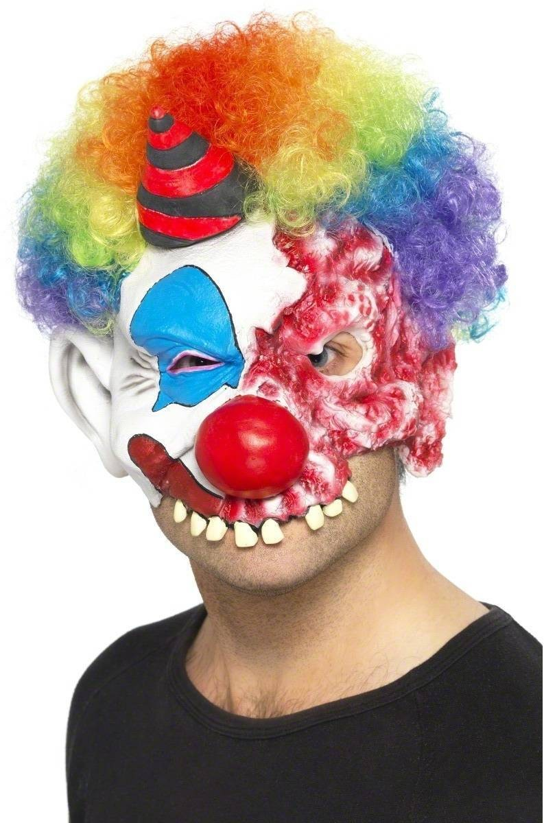 Scary Clown Mask Fancy Dress (Halloween)