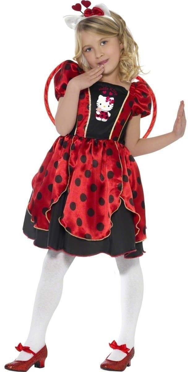 Hello Kitty Lady Bug Fairy Fancy Dress Costume Girls (Fairy Tales)