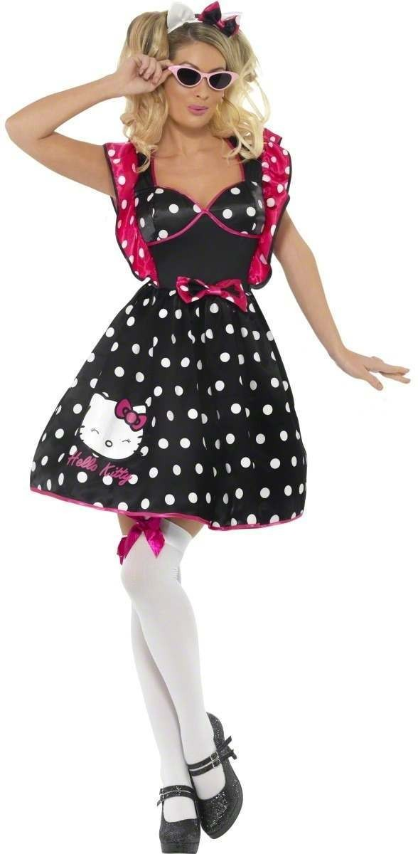 Hello Kitty Young Adult Dress Polka Dot Fancy Dress