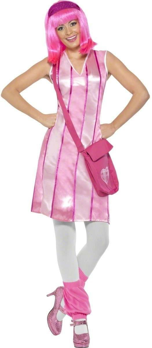 Lazy Town Stephanie Costume Adult Fancy Dress Costume (Cartoon , Tv)
