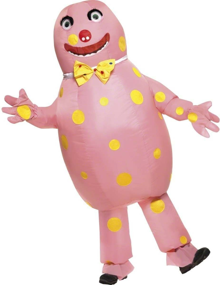 Mr Blobby Fancy Dress Costume Mens Size 38-40 S (1980S , Cartoon , Tv)