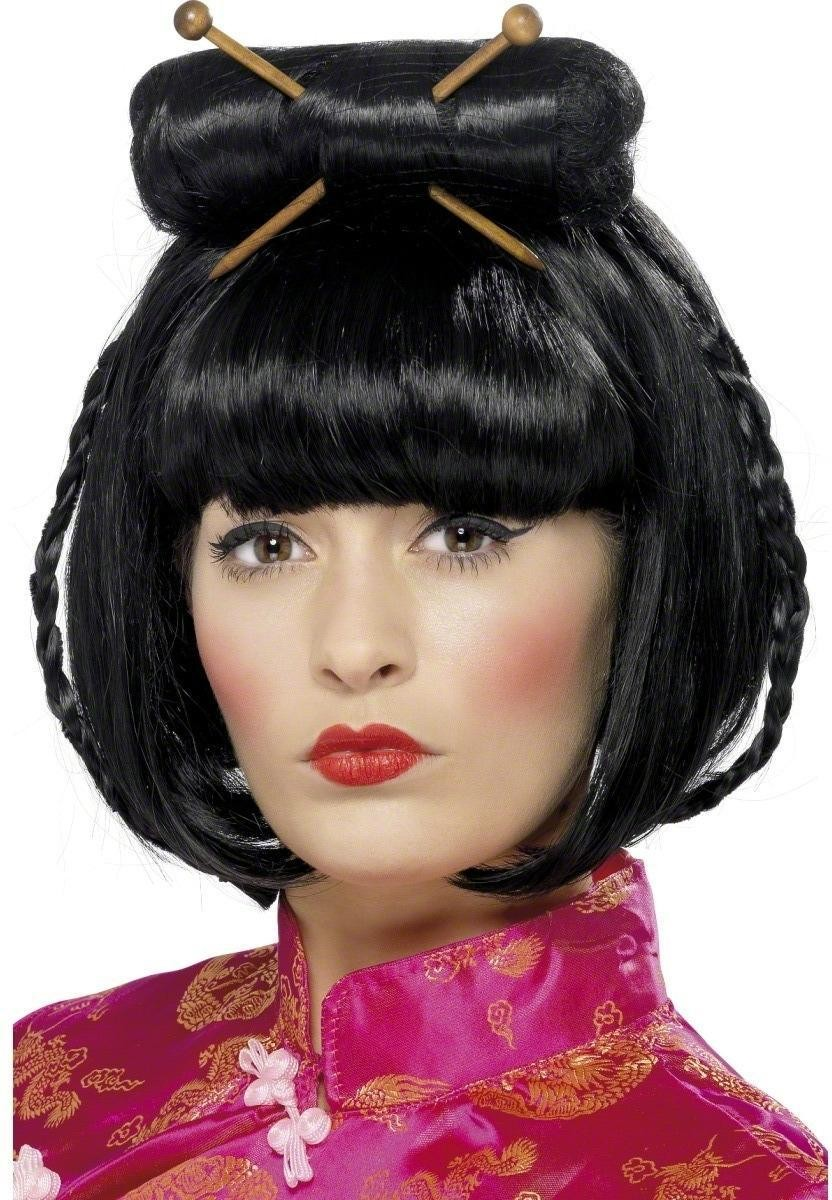 Oriental Lady Wig Fancy Dress Ladies