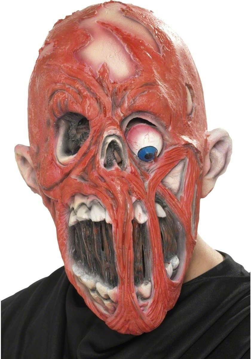 Horror Zombie Mask With Fleshless Face - Fancy Dress (Halloween)