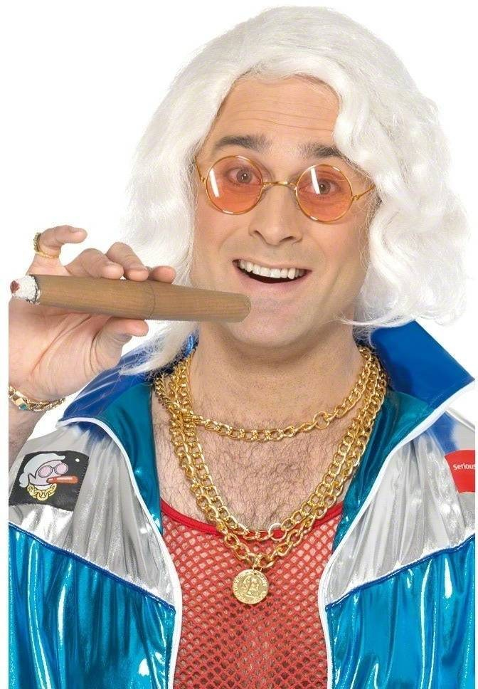 Jimmy Savile Accessory Kit - Fancy Dress Mens (1970S , 1980S , Tv) - White