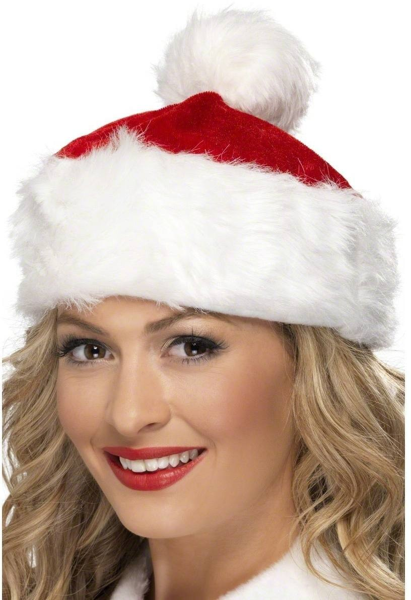 Short Santa Hat - Fancy Dress Ladies (Christmas)