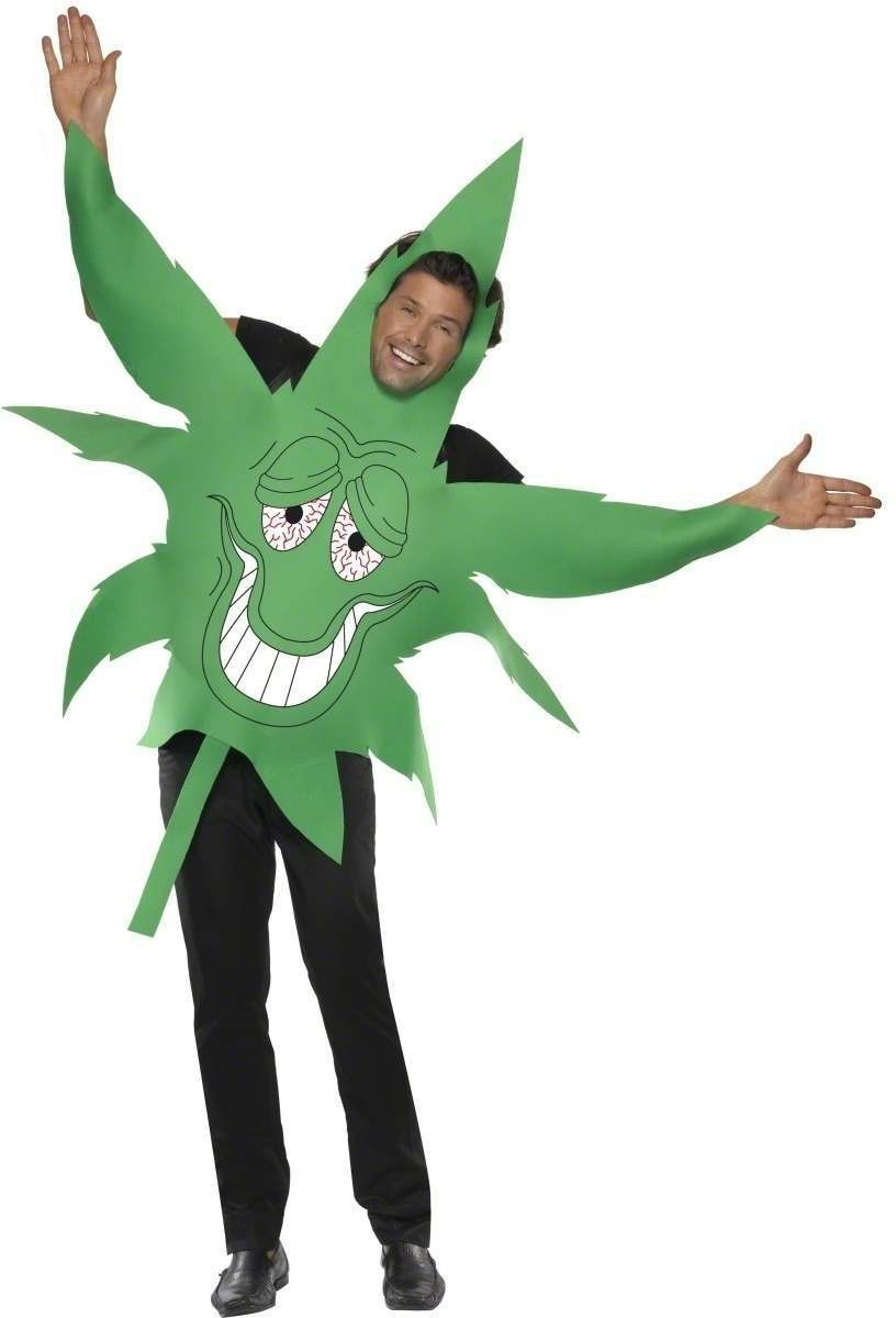 Cannabis Leaf Fancy Dress Costume Mens