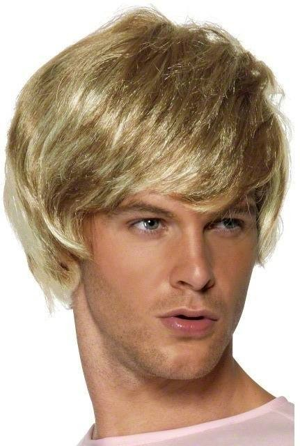 Bruno Wig Fancy Dress Mens (Film , Tv) - Blond