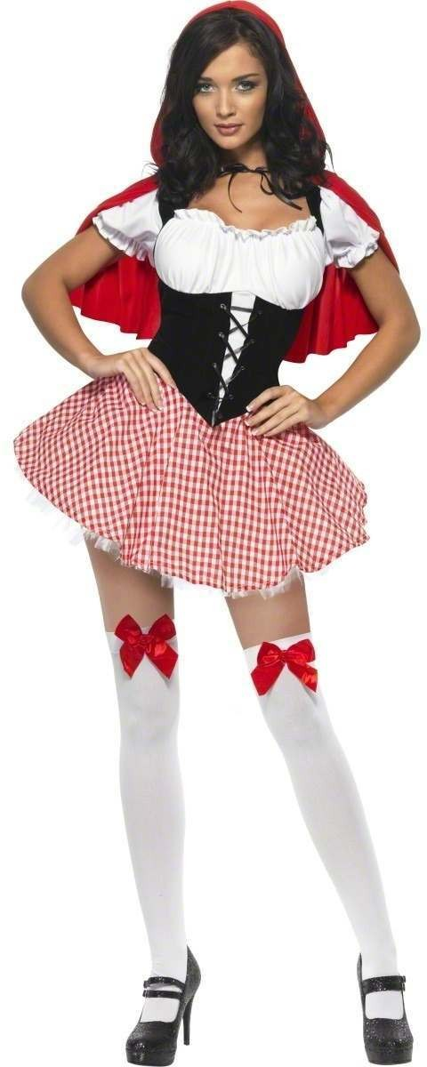 Fever Red Riding Hood Fancy Dress Costume Ladies