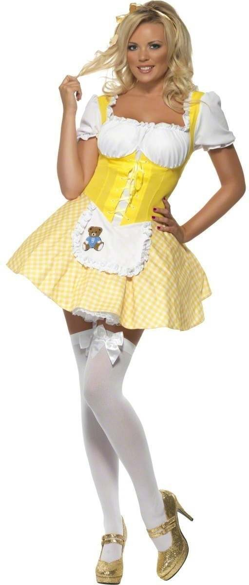 Fever Goldilocks Costume Dress With Bear Detail Costume (Fairy Tales , Sexy)
