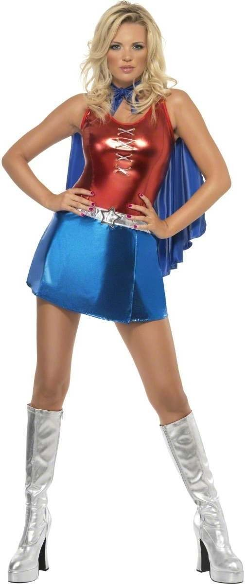 Fever Hero Hottie Fancy Dress Costume Ladies