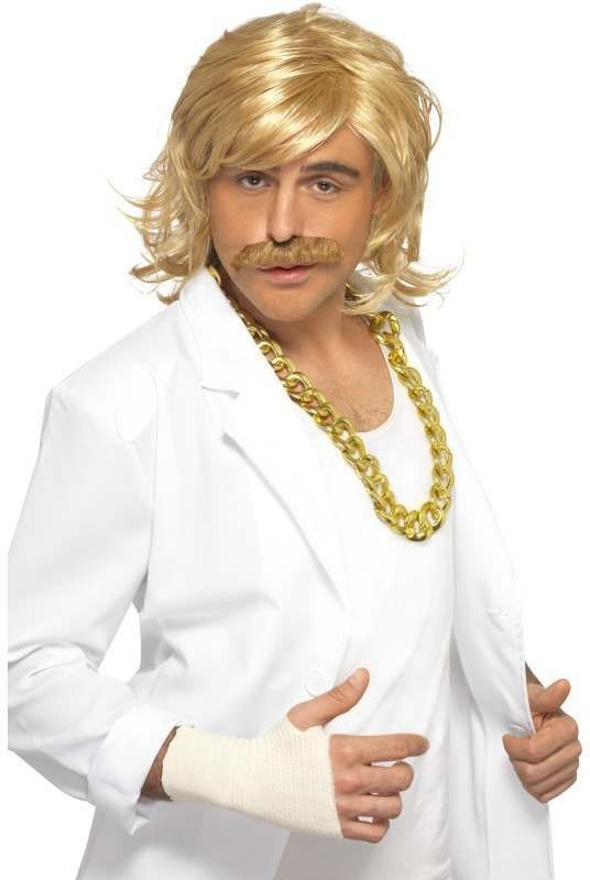 Game Show Host Kit, Wig And Tash (Tv Fancy Dress Wigs) - (Blond)