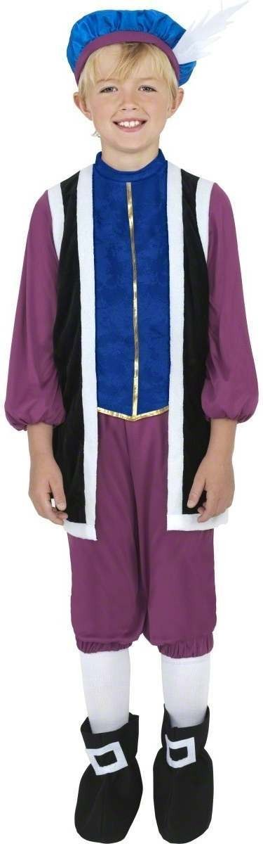 Tudor Boy Fancy Dress Costume Boys (Old English)