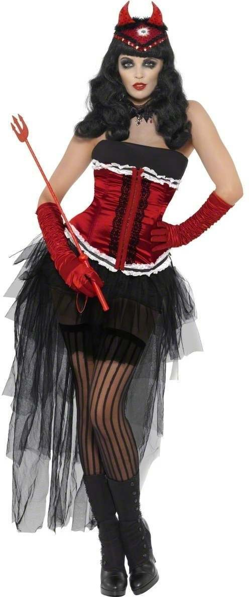 Diva Demonique De Vil Fancy Dress Costume Ladies (Halloween)