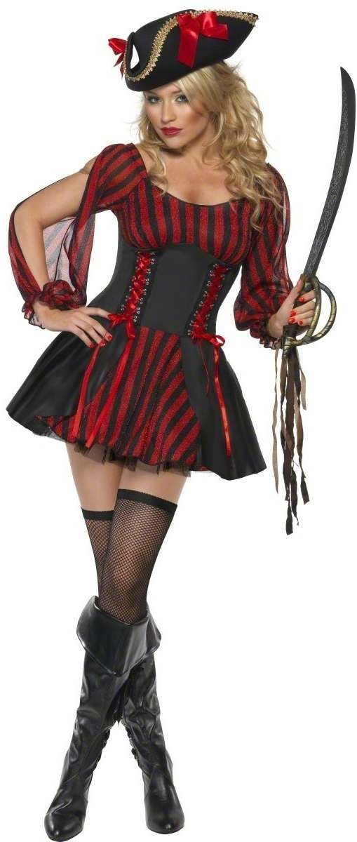 Fever Pirate Fancy Dress Costume Ladies (Pirates)