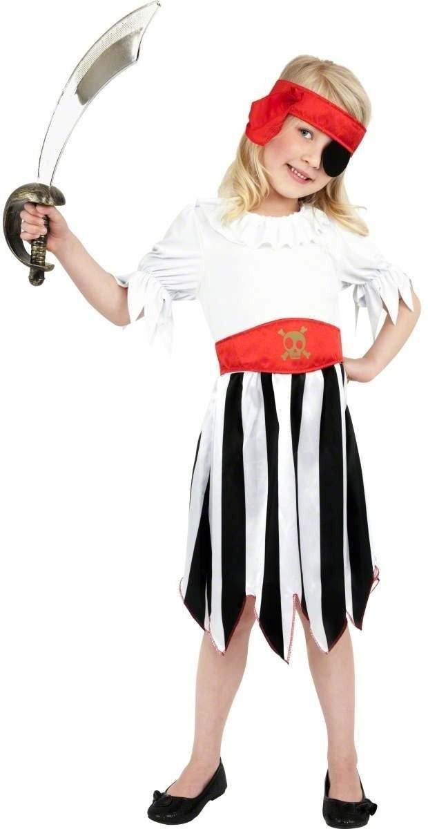Pirate Girl Fancy Dress Costume Girls (Pirates)