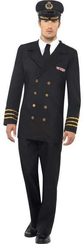 Navy Officer , Male Fancy Dress Costume