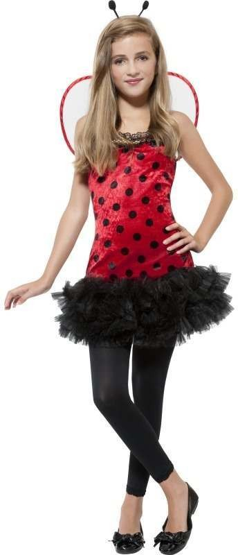 Miss Lady Bug Fancy Dress Costume