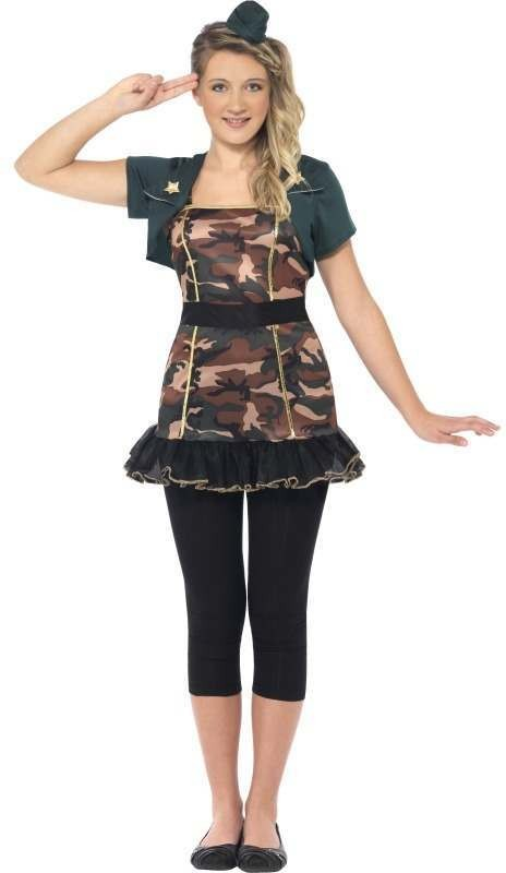 Miss Army Girl Fancy Dress Costume