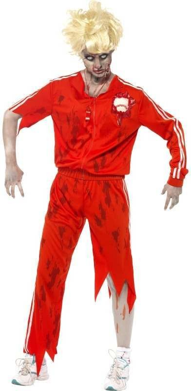 Zombie Sports Teacher Fancy Dress Costume