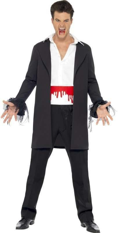 Blood Drip Vampire Fancy Dress Costume