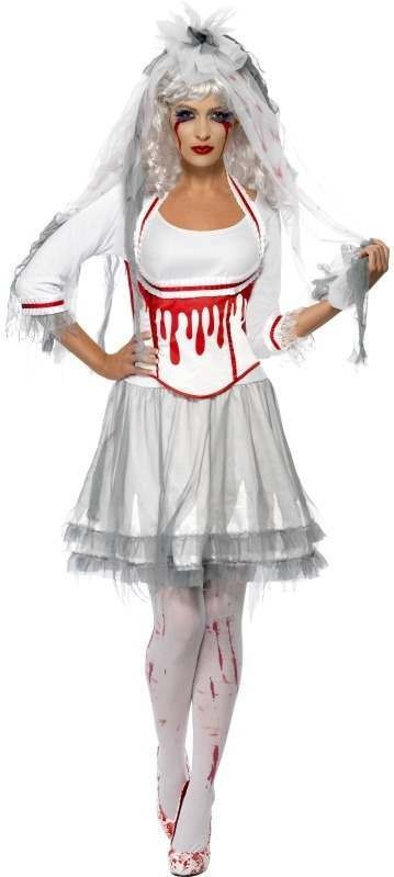 Fever Blood Drip Bride Fancy Dress Costume