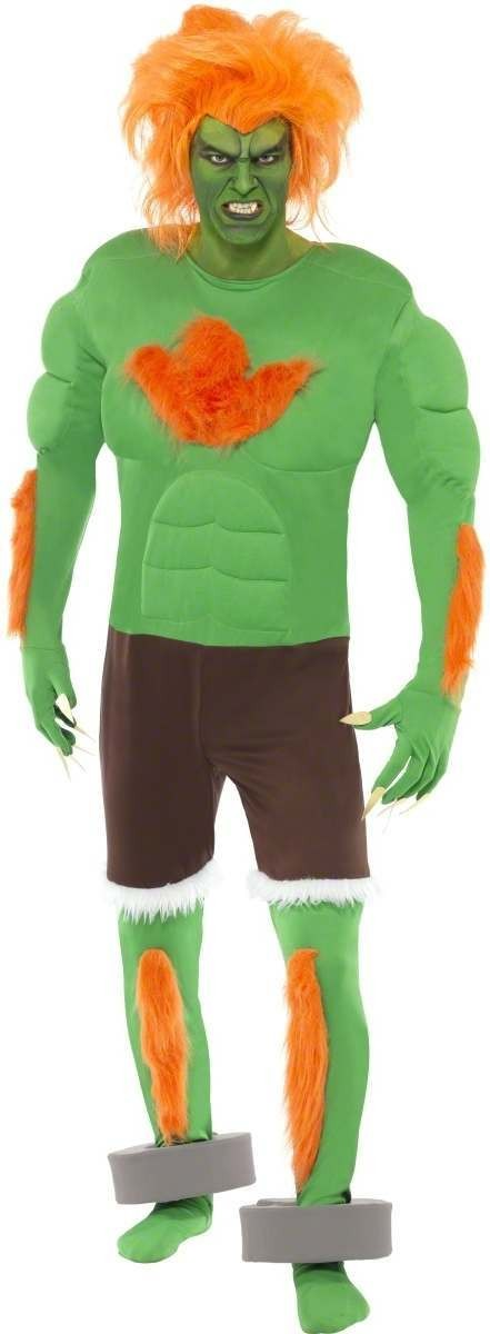Blanka Costume Street Fighter Iv Fancy Dress Costume