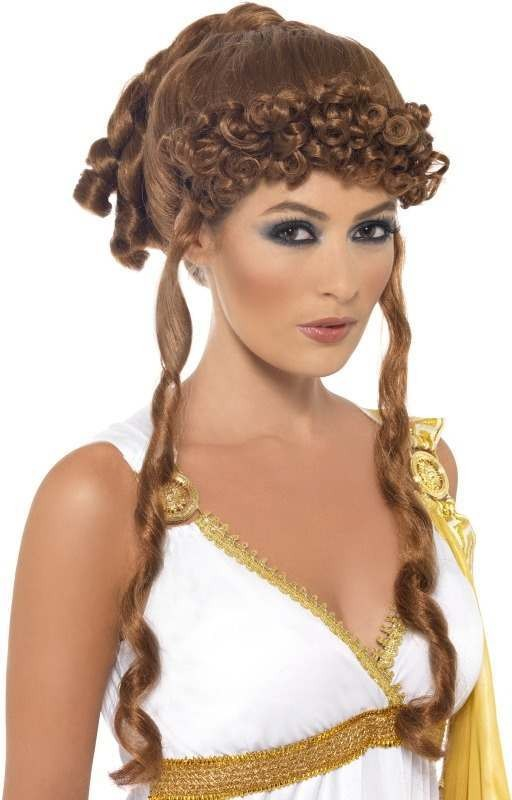 Helen Of Troy Wig (Legends/Myths Fancy Dress Wigs) - (Brown)