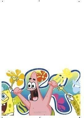 Sponge Bob Party Tablecover Fancy Dress
