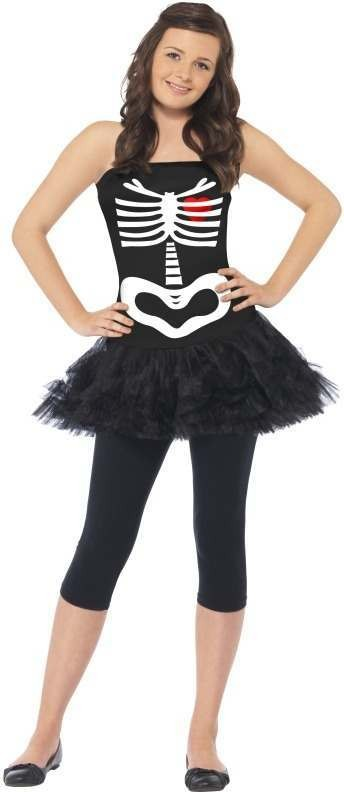Skeleton Tutu Fancy Dress Costume