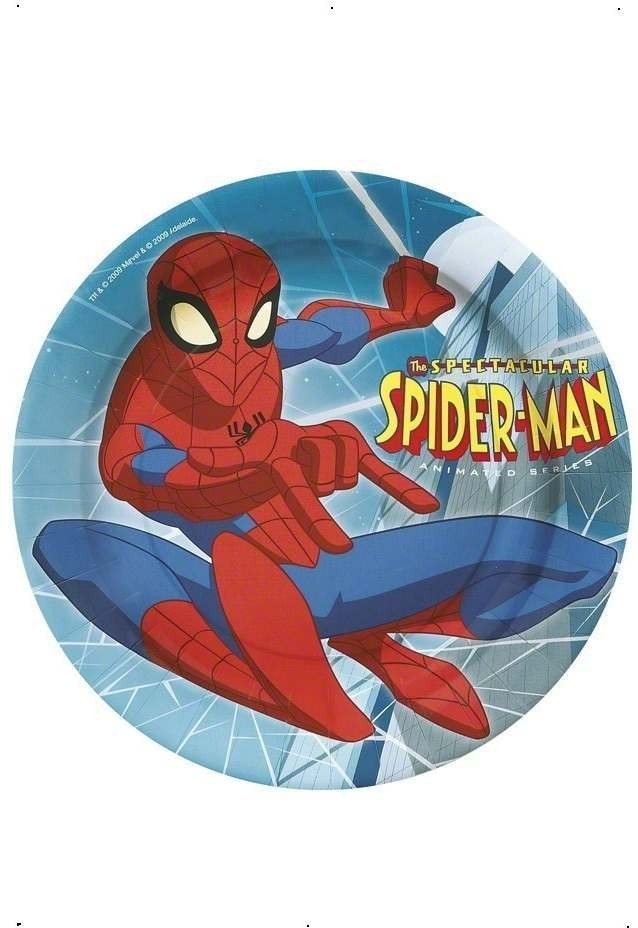 Spiderman Party Plates Fancy Dress