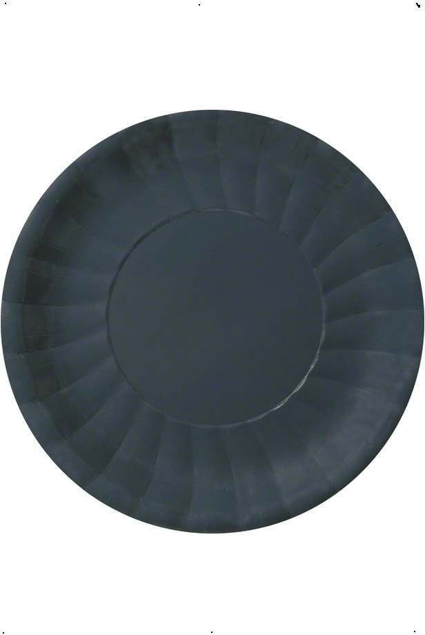 Black Party Plates Fancy Dress