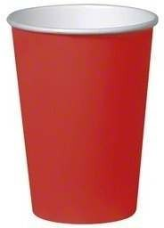 Carmine Red Party Cups Fancy Dress