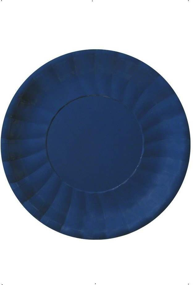 Dark Blue Party Plates Fancy Dress