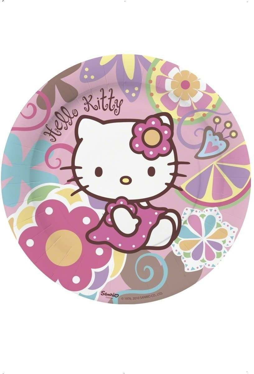 Hello Kitty Bamboo Party Plates Fancy Dress
