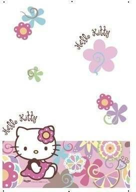 Hello Kitty Bamboo Party Tablecover Fancy Dress
