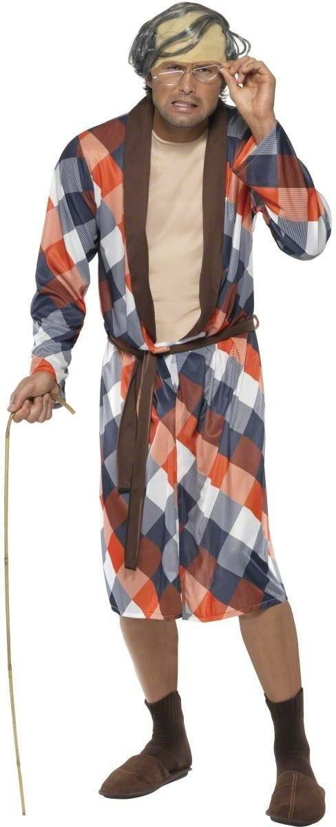 Dirty Old Man Fancy Dress Costume Mens Size 38-40 S