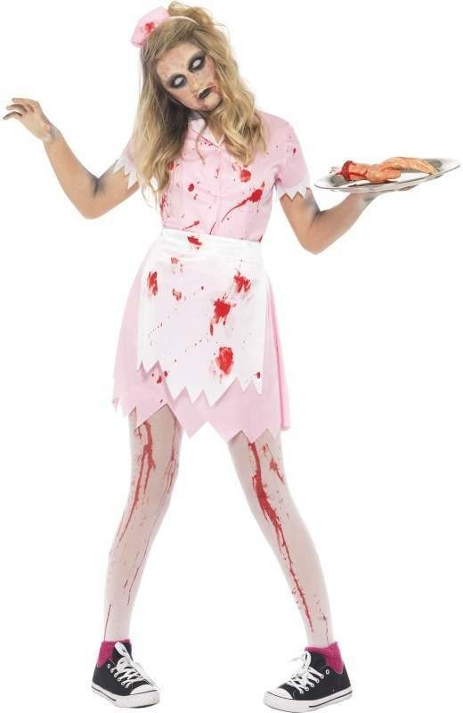 Dead Diner Waitress Fancy Dress Costume