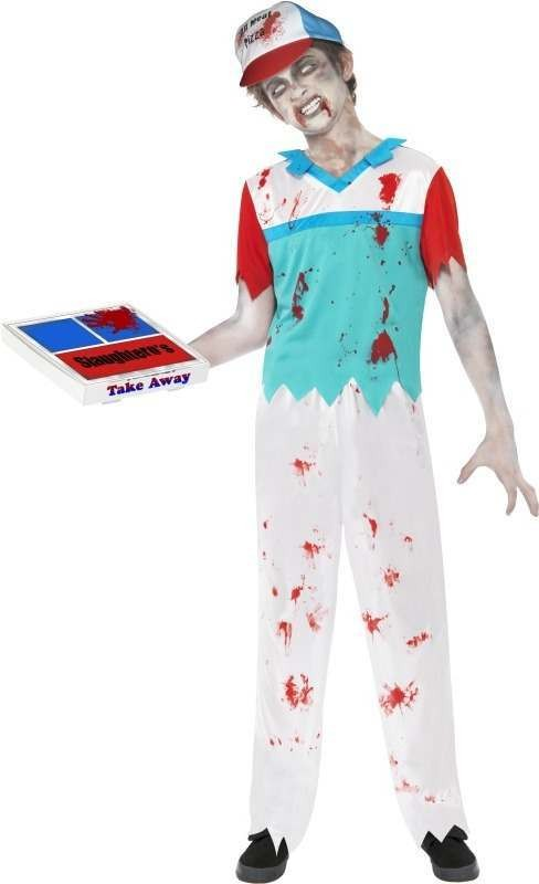 Pizza Delivery Boy Fancy Dress Costume