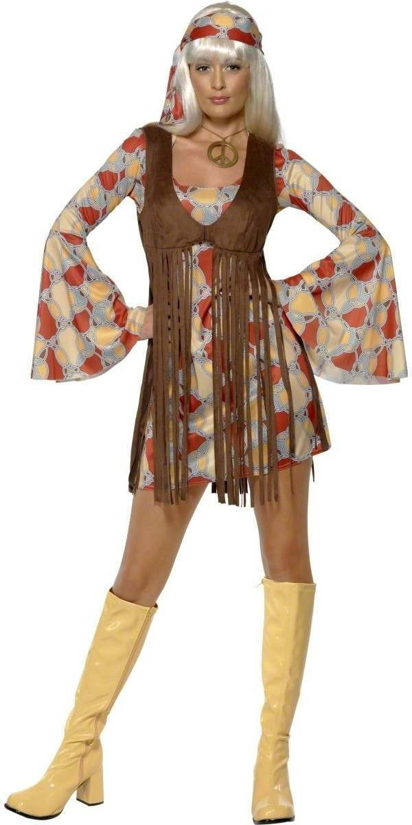 1960'S Groovy Baby Fancy Dress Costume Ladies (1960S)