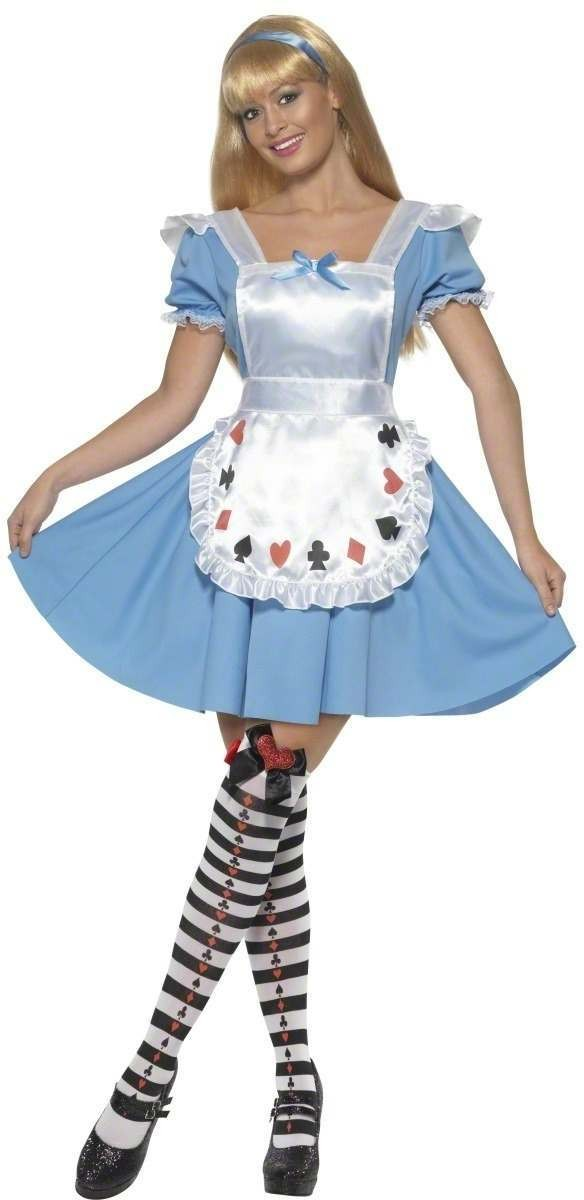 Deck Of Cards Girl Fancy Dress Costume Ladies (Fairy Tales)
