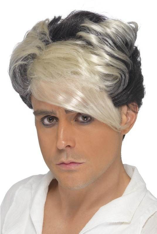 1980'S Waterfall Quiff Wig (1980S Fancy Dress Wigs) - (Blonde)