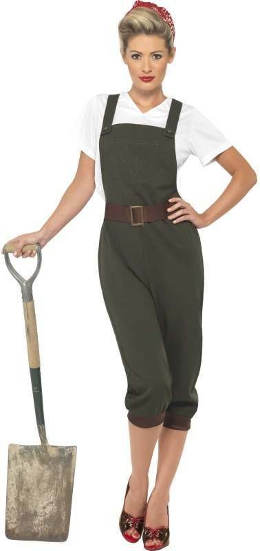 Ww2 Land Girl Fancy Dress Costume