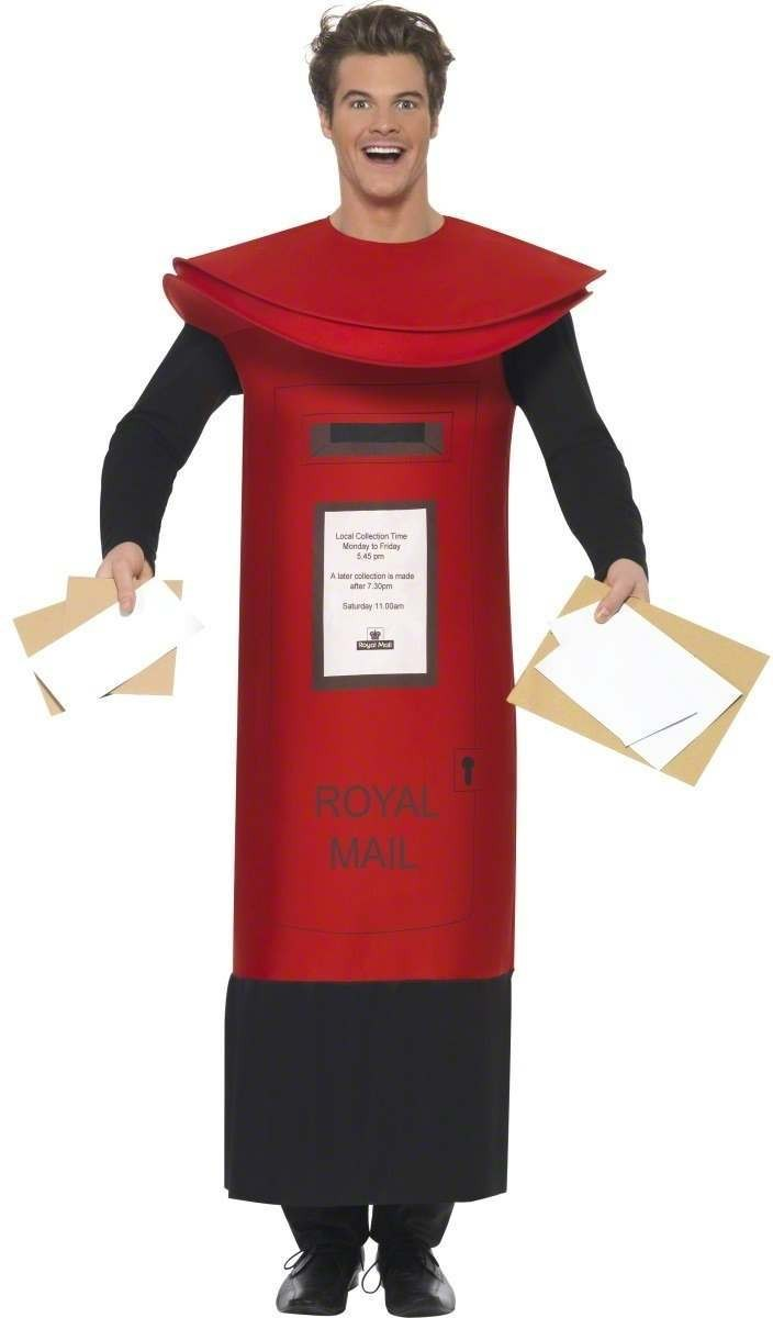 Royal Mail Pillar Box Costume Mens Size 38-40 S