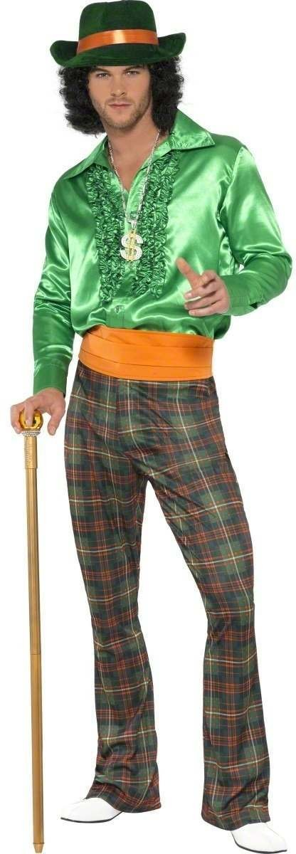 Casual Pimp Fancy Dress Costume Mens (Pimp)