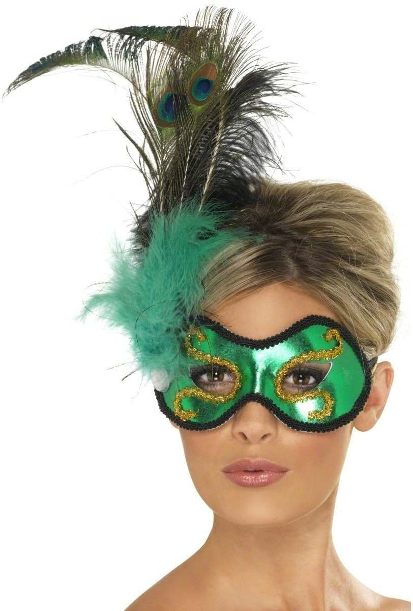 Emerald Peacock With Side Feather Detail Fancy Dress