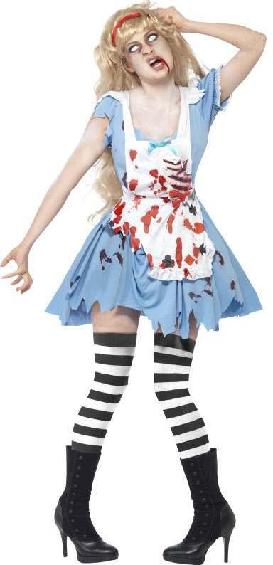 Ladies Blue Zombie Malice  (Fancy Dress Costume)