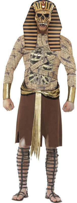 Mens Gold Zombie Pharaoh (Fancy Dress Costume)