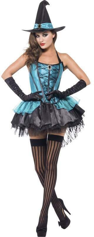 Ladies Green Fever Witch Divine  (Fancy Dress Costume)