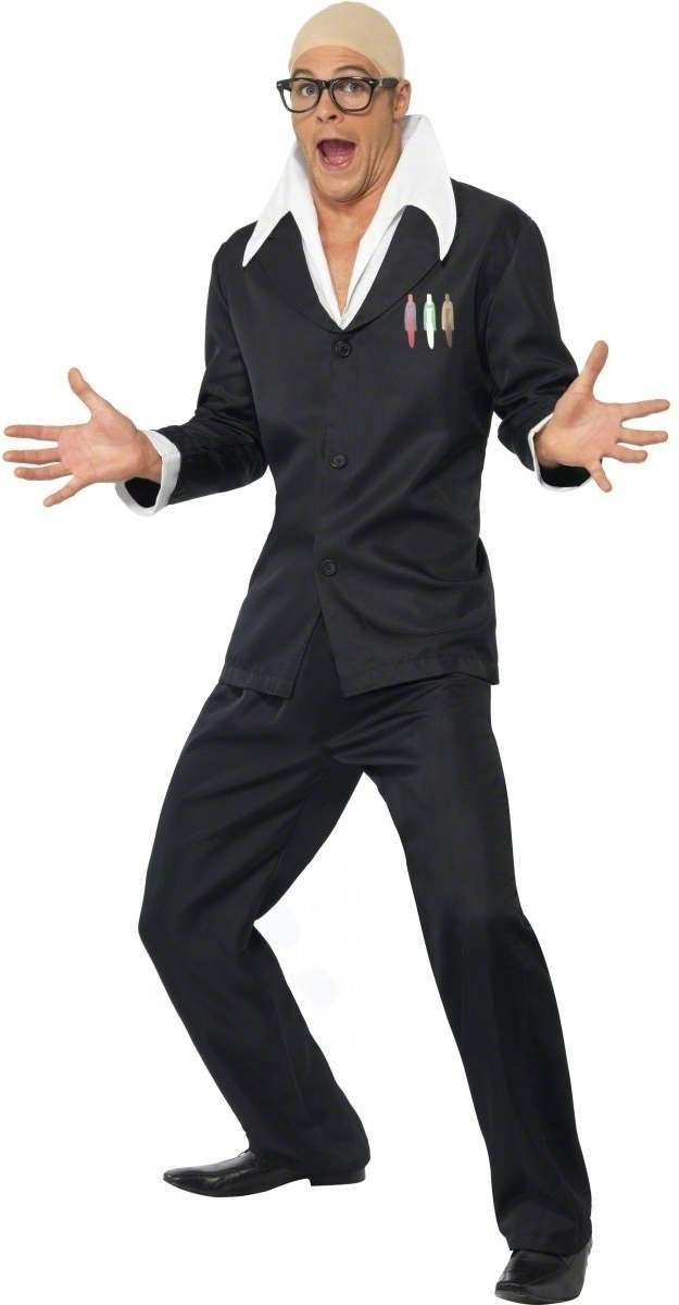 Bald Comedian Fancy Dress Costume Mens