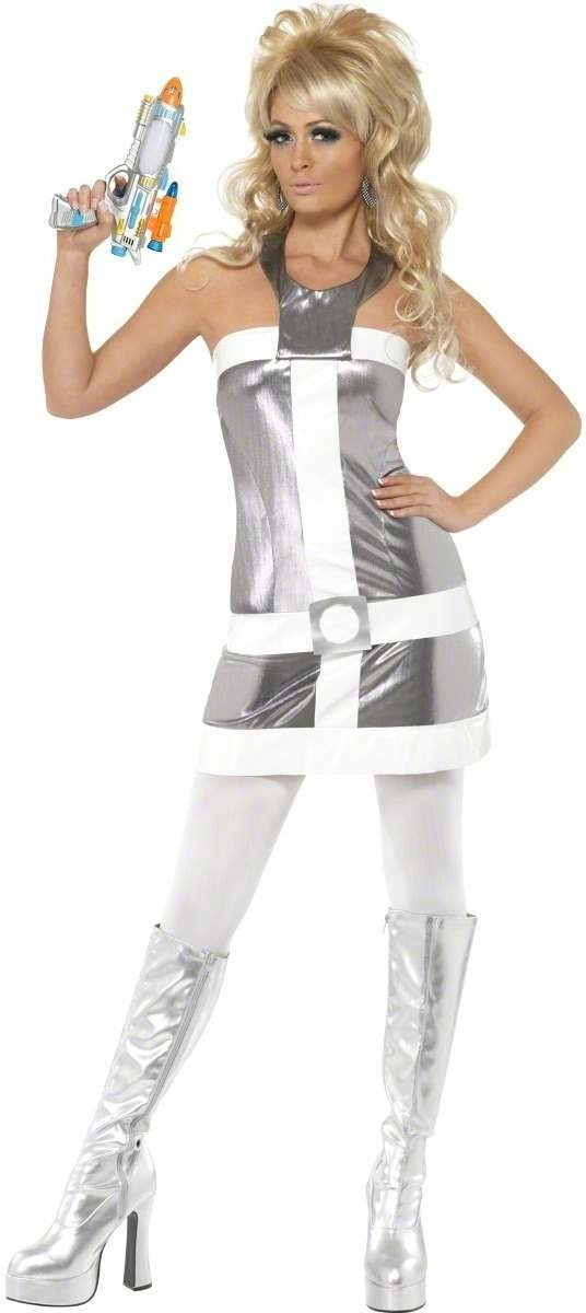 1960'S Space Mod Fancy Dress Costume Ladies (1960S , 1970S , Film , Sci-Fi , Tv)